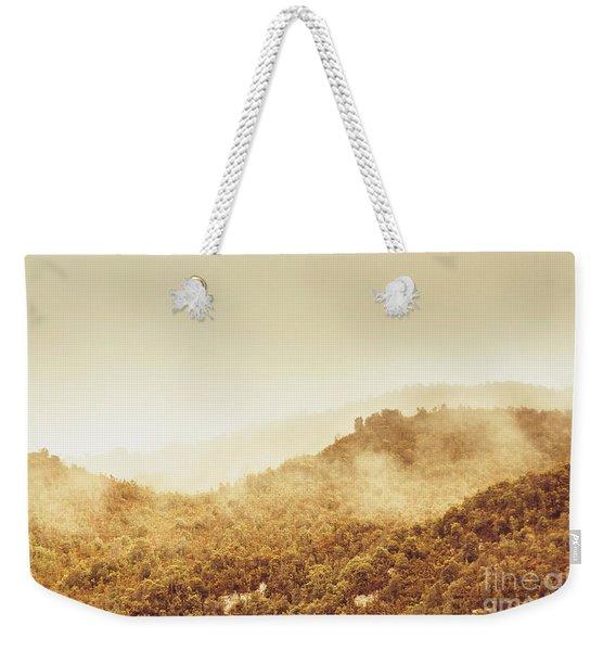 Moody Mountain Morning Weekender Tote Bag