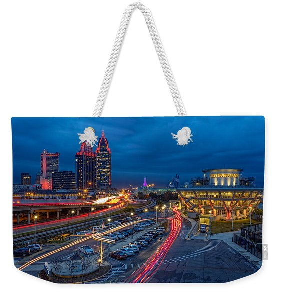 Moody Night In The Port City Weekender Tote Bag