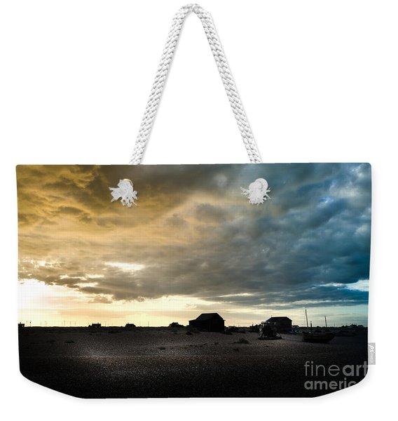 Moody Sky, Dungeness Beach  Weekender Tote Bag