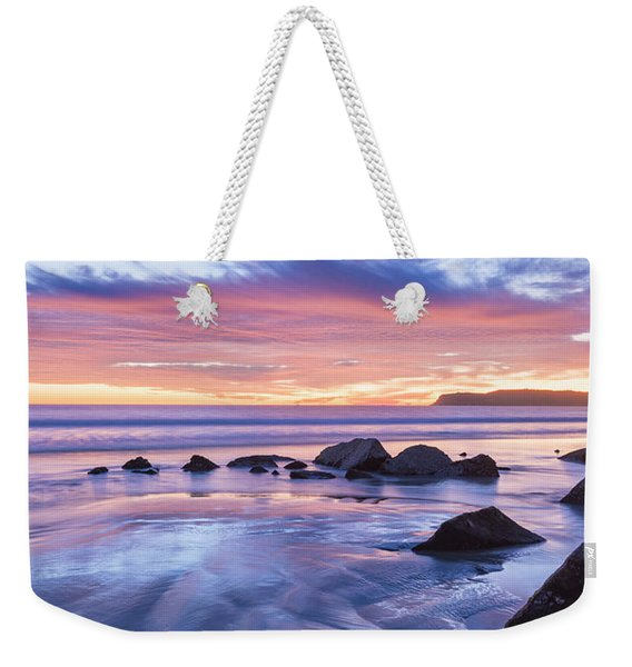 Moon Above Weekender Tote Bag