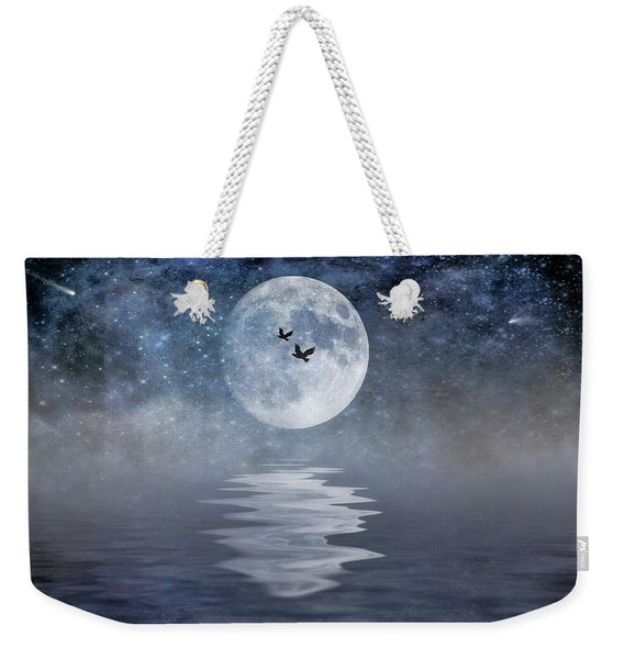Moon And Sea Weekender Tote Bag