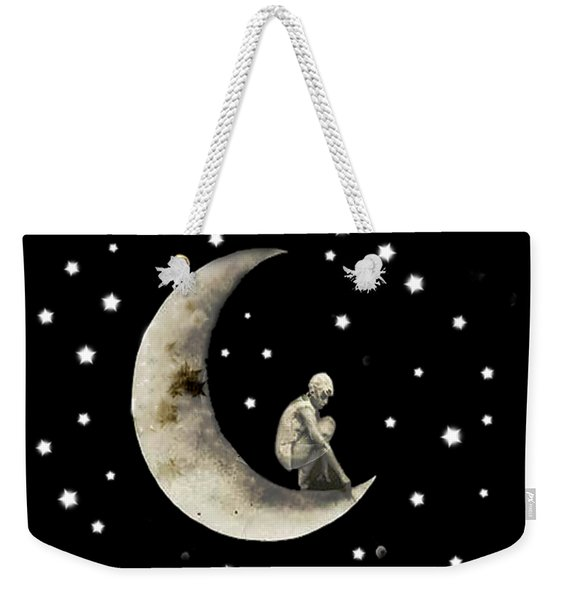 Moon And Stars T Shirt Design Weekender Tote Bag