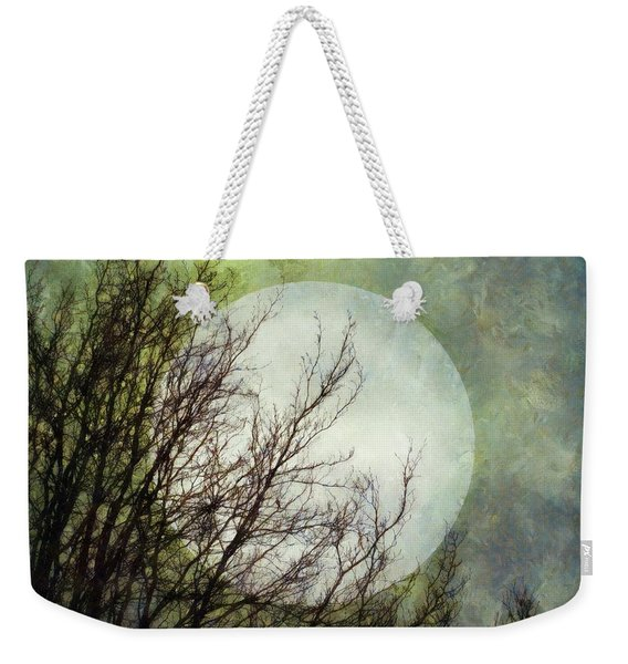 Weekender Tote Bag featuring the digital art Moon Dream by Patricia Strand