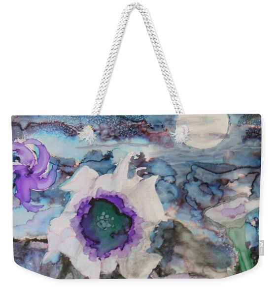 Moon Flower In Bloom Weekender Tote Bag