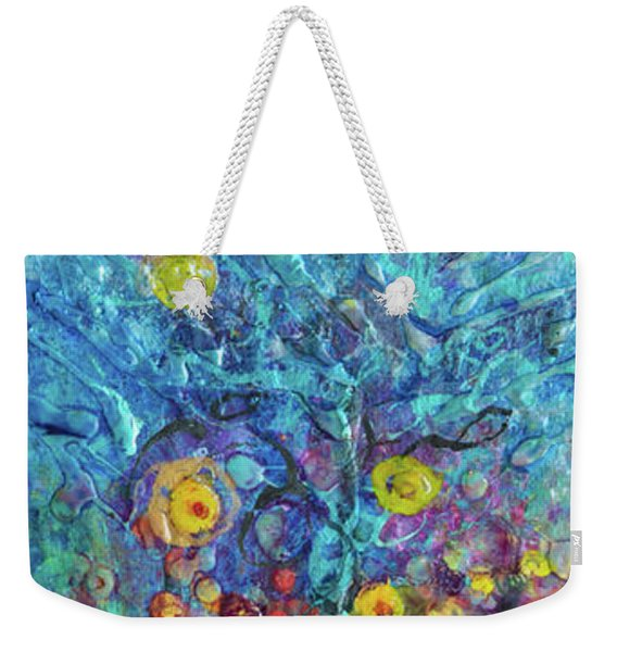 Moon Flowers Weekender Tote Bag
