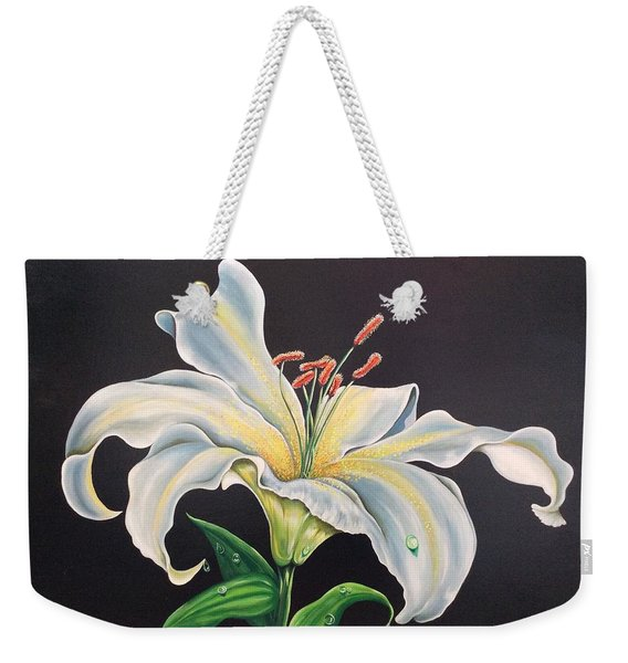 Moon Light Lilly Weekender Tote Bag