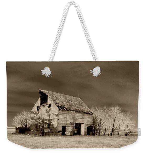 Moon Lit Sepia Weekender Tote Bag