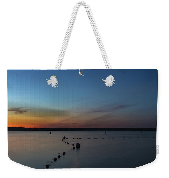 Moon Over Cayuga Weekender Tote Bag