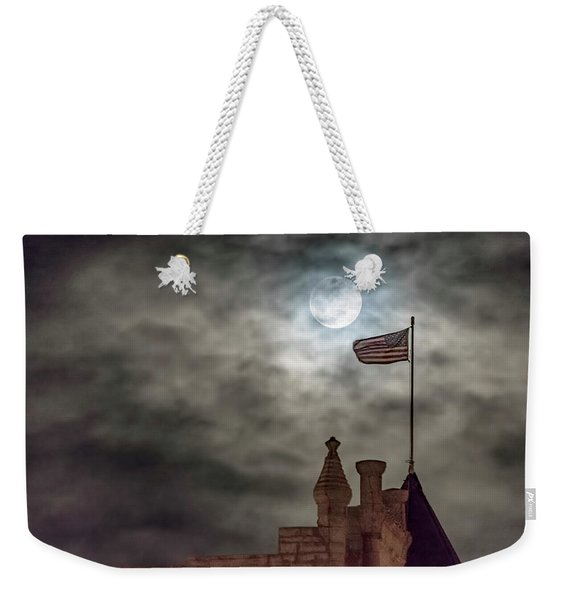 Moon Over The Bank Weekender Tote Bag