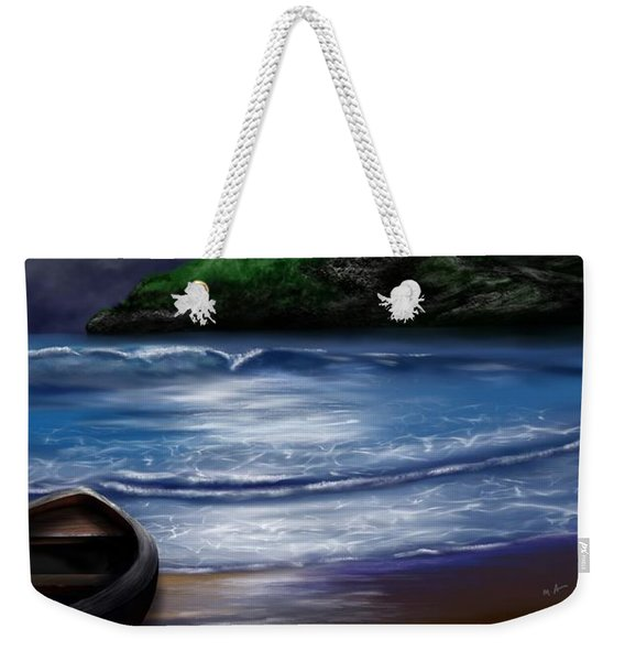 Moon Over The Cove Weekender Tote Bag