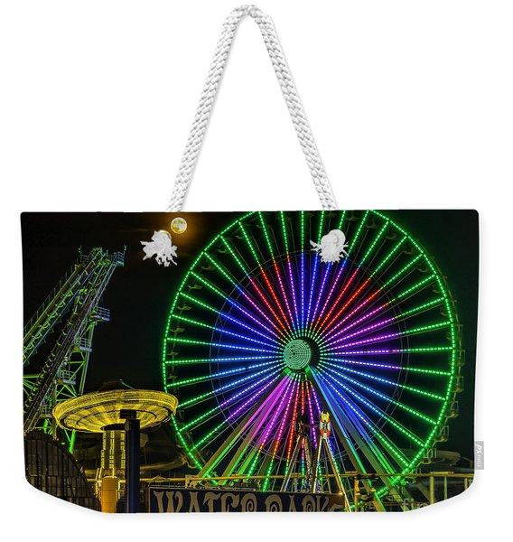 Moon Over The Ferris Wheel Weekender Tote Bag