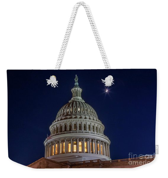 Moon Over The Washington Capitol Building Weekender Tote Bag