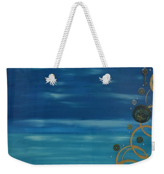 Moon Over Water Weekender Tote Bag