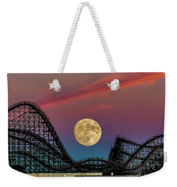 Moon Over Wildwood Nj Weekender Tote Bag