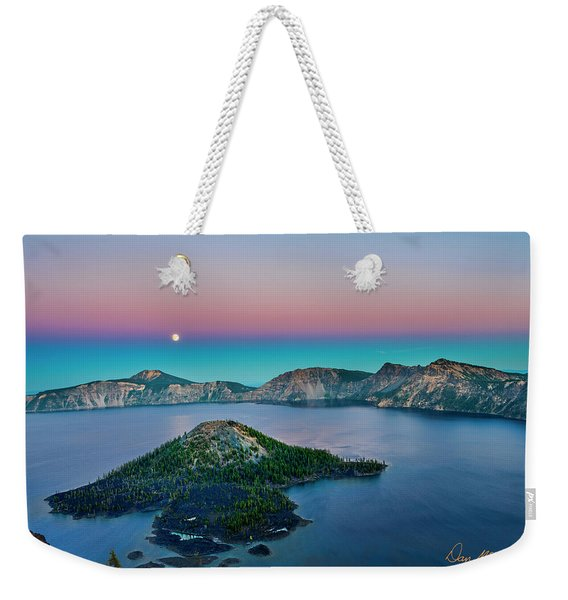 Moon Over Wizard Island Weekender Tote Bag