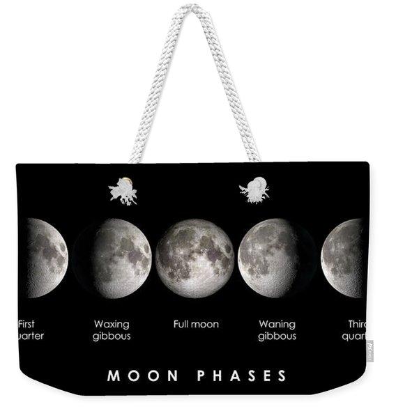 Moon Phases Weekender Tote Bag
