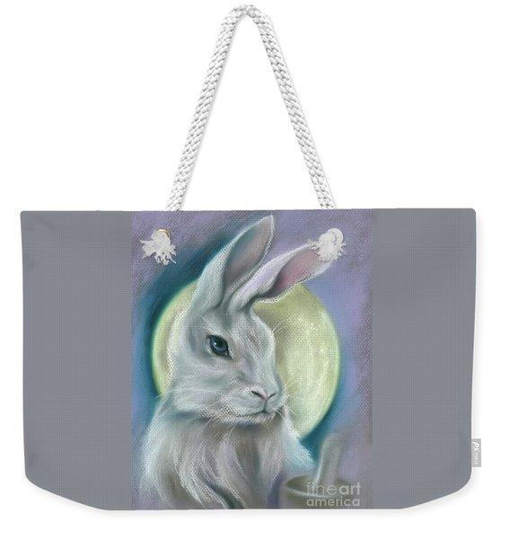 Moon Rabbit Weekender Tote Bag