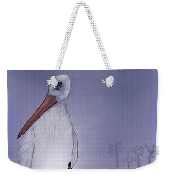Moon Rise Becomes A Stork Weekender Tote Bag