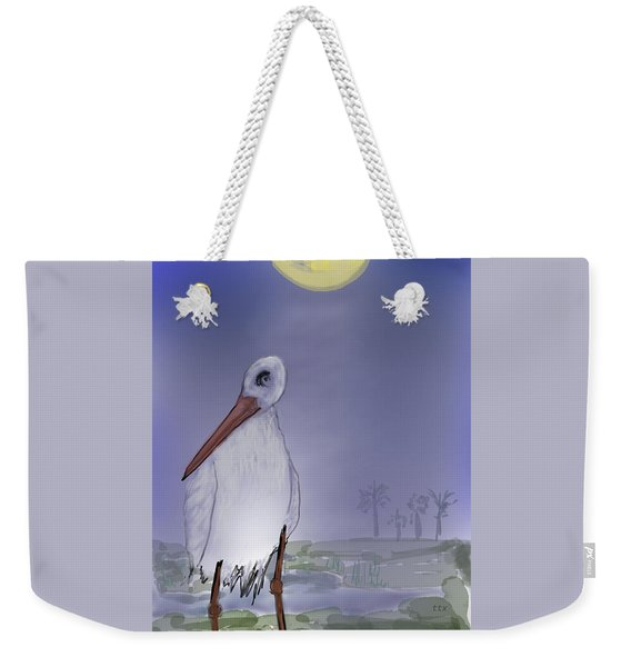 Moon Rise Becomes A Stork Weekender Tote Bag