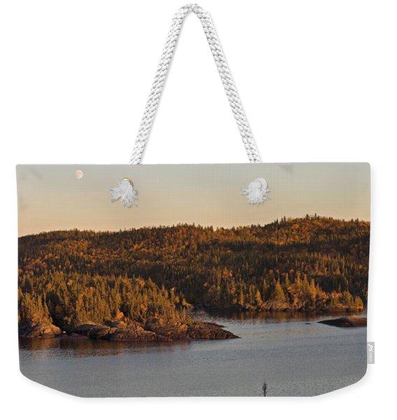 Moon Rise Over Pukaskwa Weekender Tote Bag