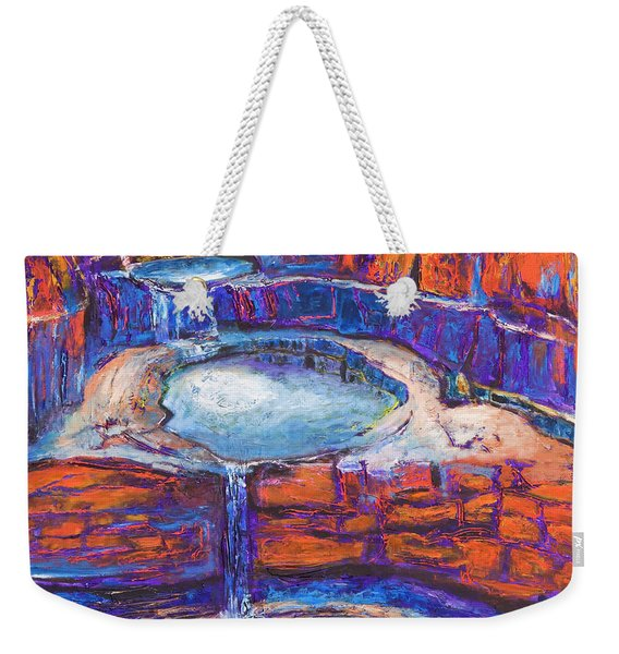 Moon Rising Over The Mitchell Falls Weekender Tote Bag