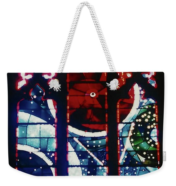 Moon Rock In Space Window Weekender Tote Bag