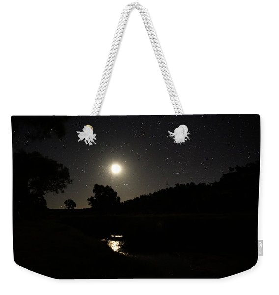Moon Set Over Palm Valley 2 Weekender Tote Bag