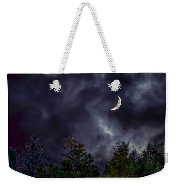 Moon Shine Over The Okanagan Weekender Tote Bag