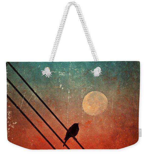 Moon Talk Weekender Tote Bag
