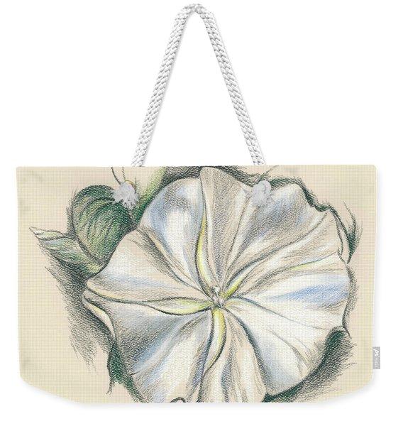 Moonflower Mixed Media Drawing Weekender Tote Bag
