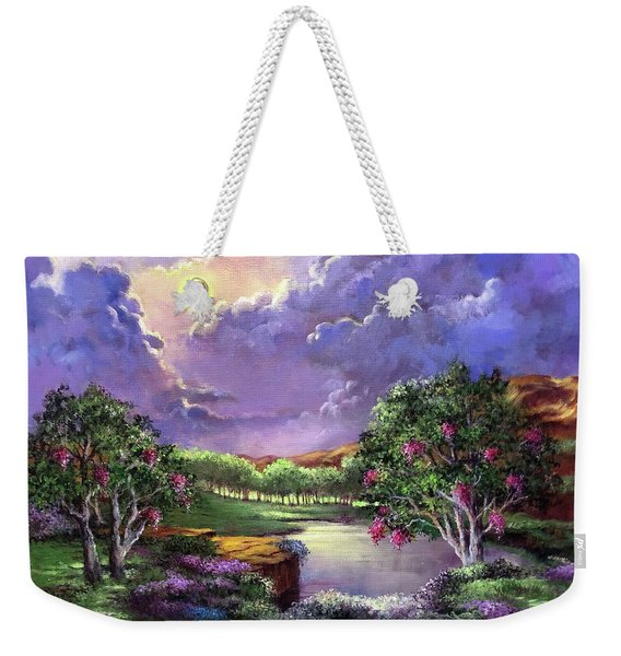 Moonlight In The Woods Weekender Tote Bag