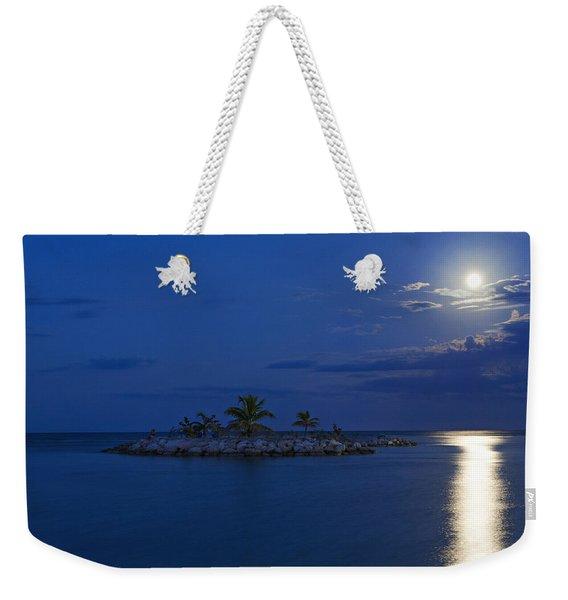 Moonlight Island Weekender Tote Bag