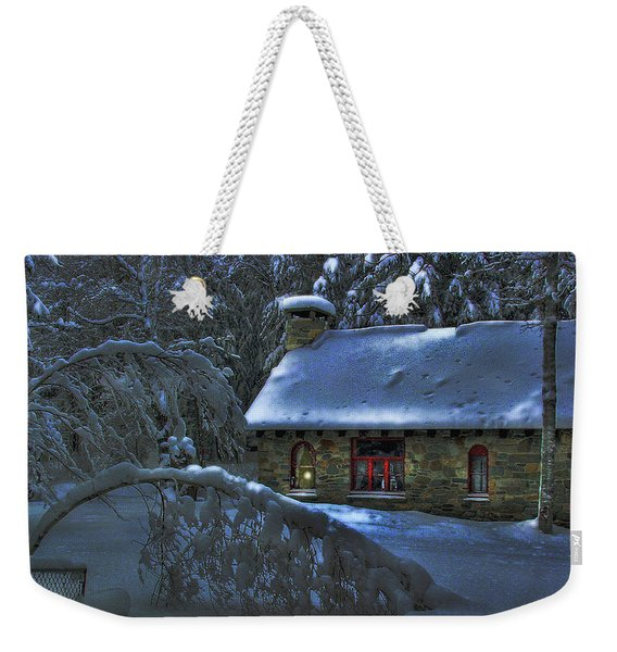 Weekender Tote Bag featuring the photograph Moonlight On The Stonehouse by Wayne King