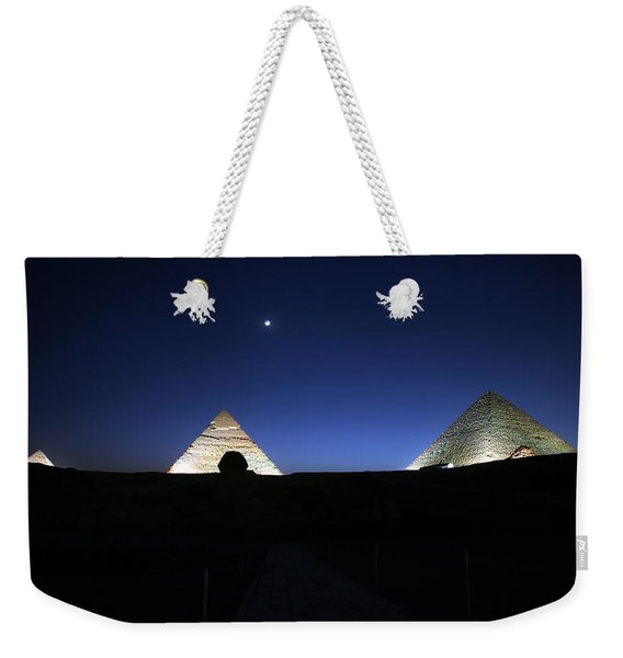 Moonlight Over 3 Pyramids Weekender Tote Bag