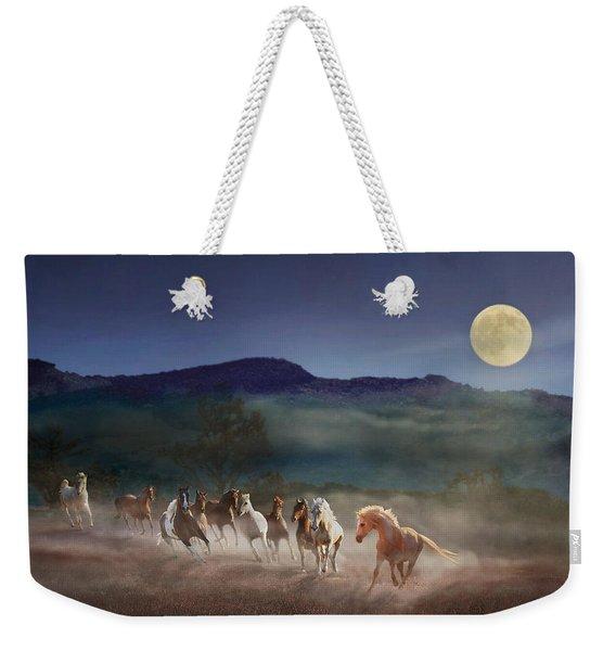Moonlight Run Weekender Tote Bag