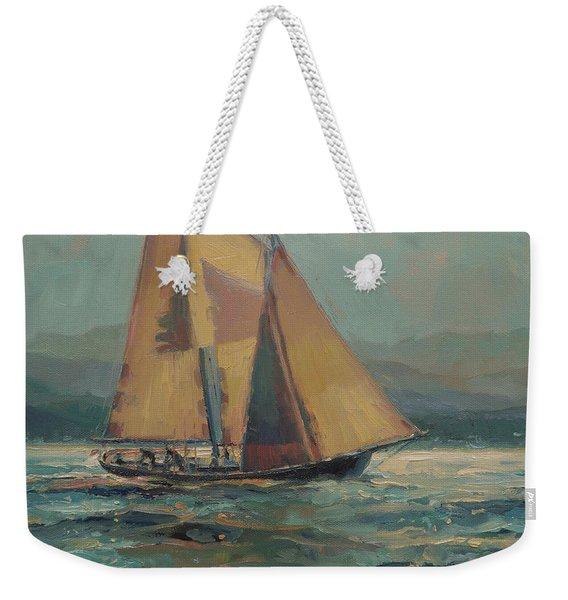 Moonlight Sail Weekender Tote Bag