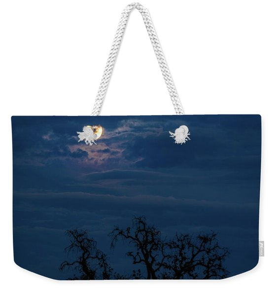 Moonlight Through A Blue Evening Sky Weekender Tote Bag
