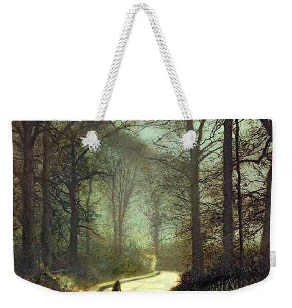 Moonlight Walk Weekender Tote Bag