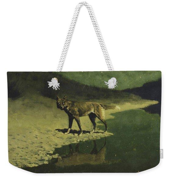 Moonlight, Wolf Weekender Tote Bag