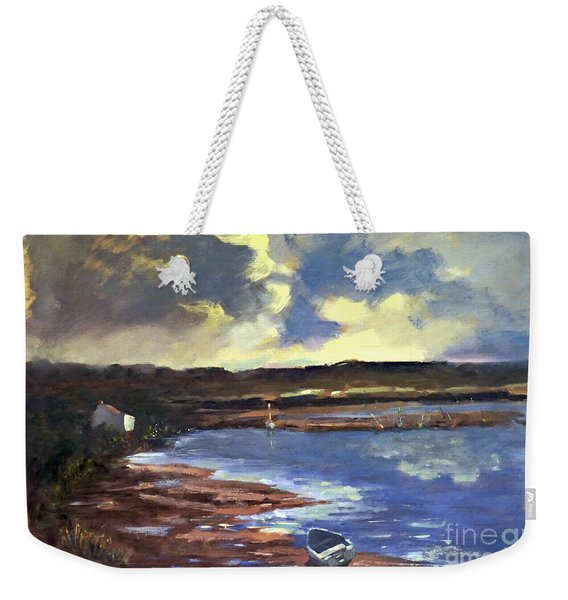 Moonlit Beach Weekender Tote Bag