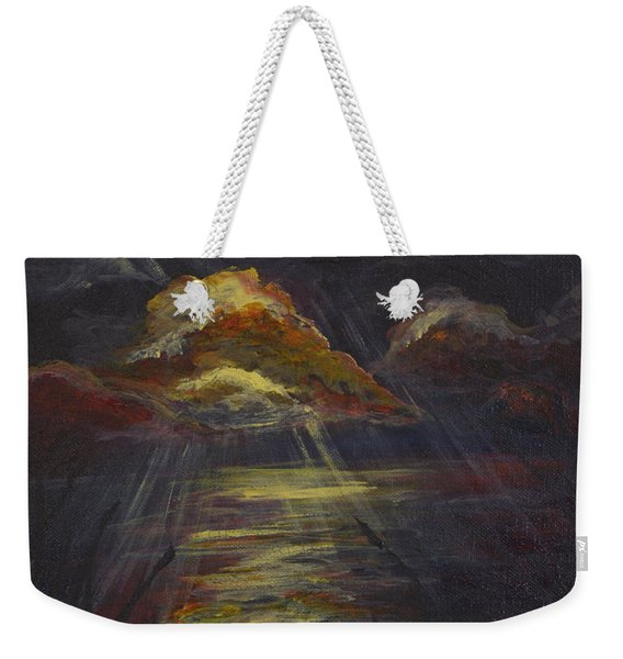 Moonlit Beach Guam Weekender Tote Bag