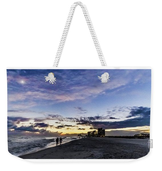 Moonlit Beach Sunset Seascape 0272b1 Weekender Tote Bag