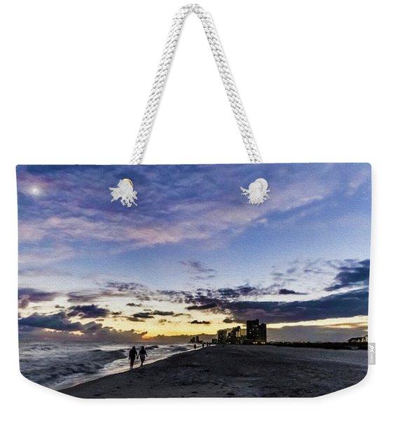 Moonlit Beach Sunset Seascape 0272c Weekender Tote Bag