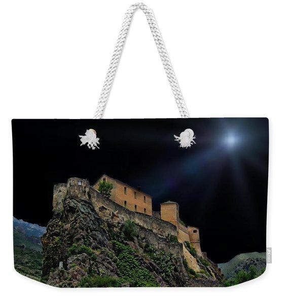 Moonlit Castle Weekender Tote Bag