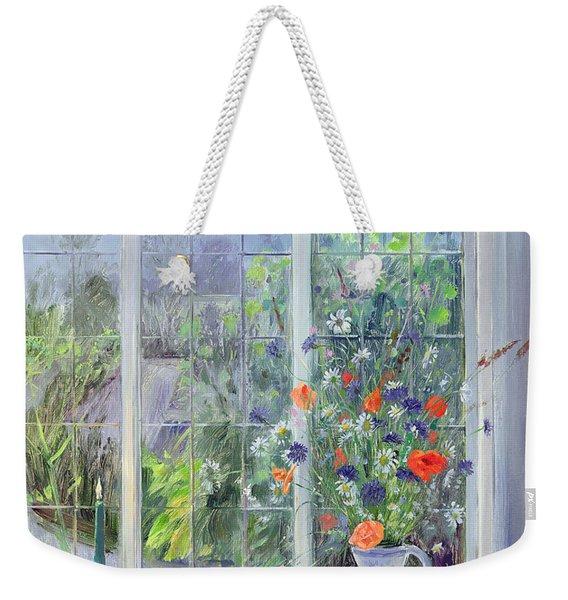 Moonlit Flowers Weekender Tote Bag