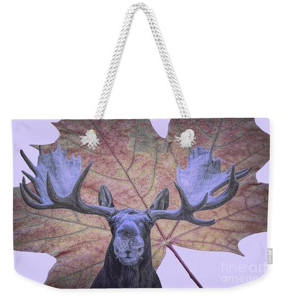 Moonlit Moose Weekender Tote Bag