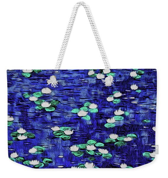 Moonlit Nymphaea Weekender Tote Bag