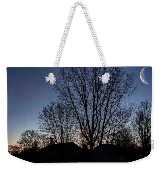 Moonlit Sunrise Weekender Tote Bag