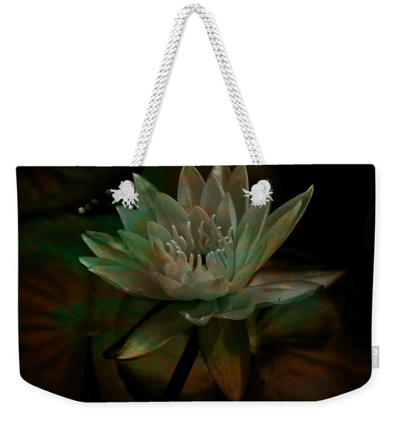 Moonlit Water Lily Weekender Tote Bag
