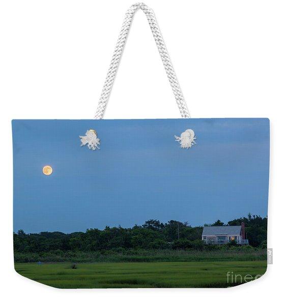 Moonrise At Grays Beach Weekender Tote Bag